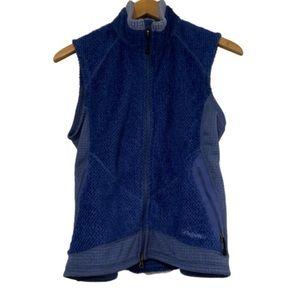 Patagonia fleece grid blue vest